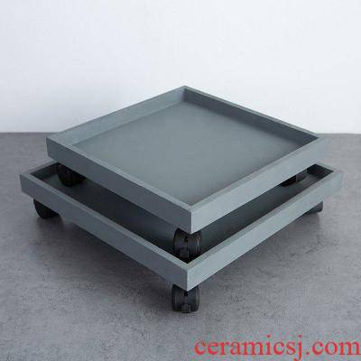 Basin of water stone base heavy flowerpot flower tow controlled water pot tray was deep water from three - dimensional flower pot cylinder flowerpot