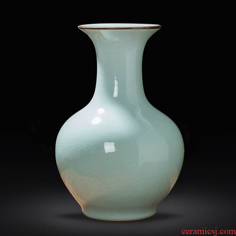 Archaize of jingdezhen ceramic up vase furnishing articles porch rich ancient frame of Chinese style household decoration TV ark