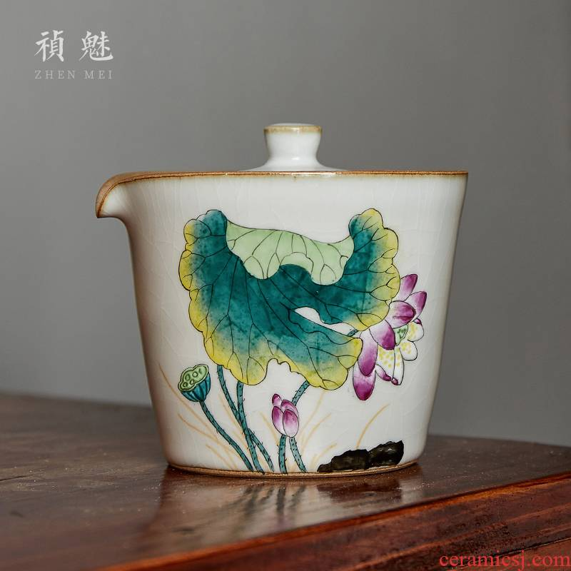 Shot incarnate the hand grasp your up hand - made lotus pot of jingdezhen ceramic kung fu tea set office home to crack a cup of tea to use