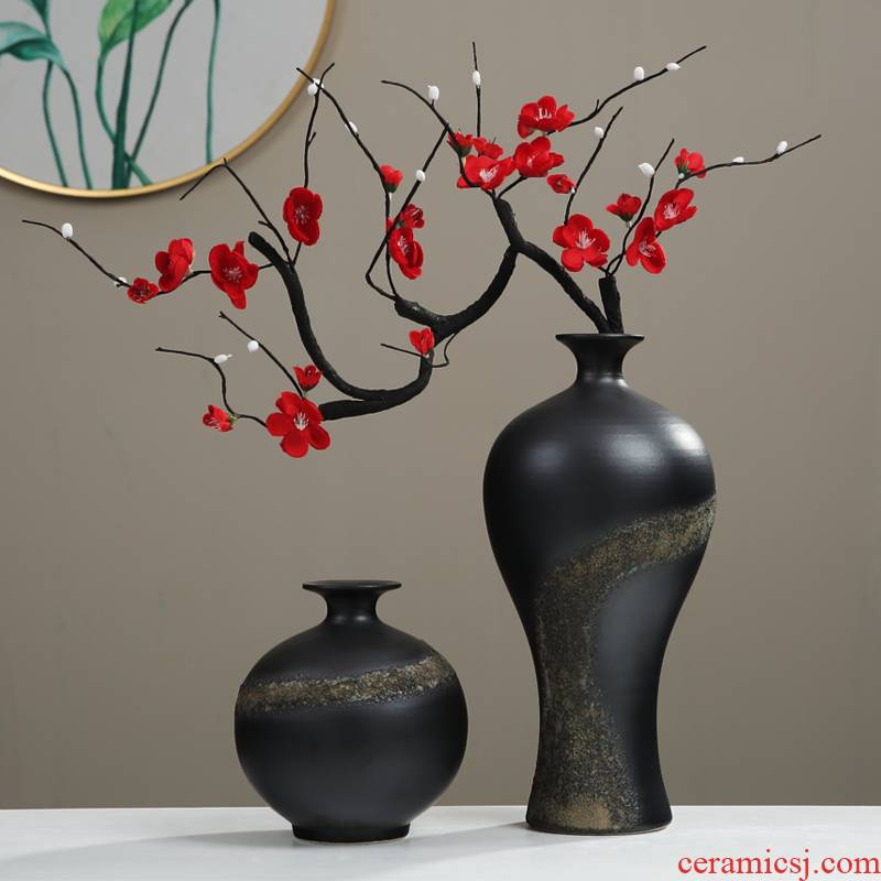 Jingdezhen zen new Chinese TV ark, flower arranging ceramic vase furnishing articles household act the role ofing is tasted, the sitting room porch a decorator
