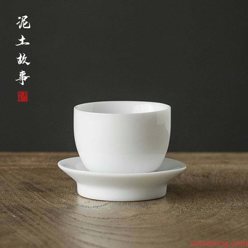 Sweet the white hand kung fu tea cups jingdezhen thin foetus master cup white porcelain bowl with single cup small cups sample tea cup