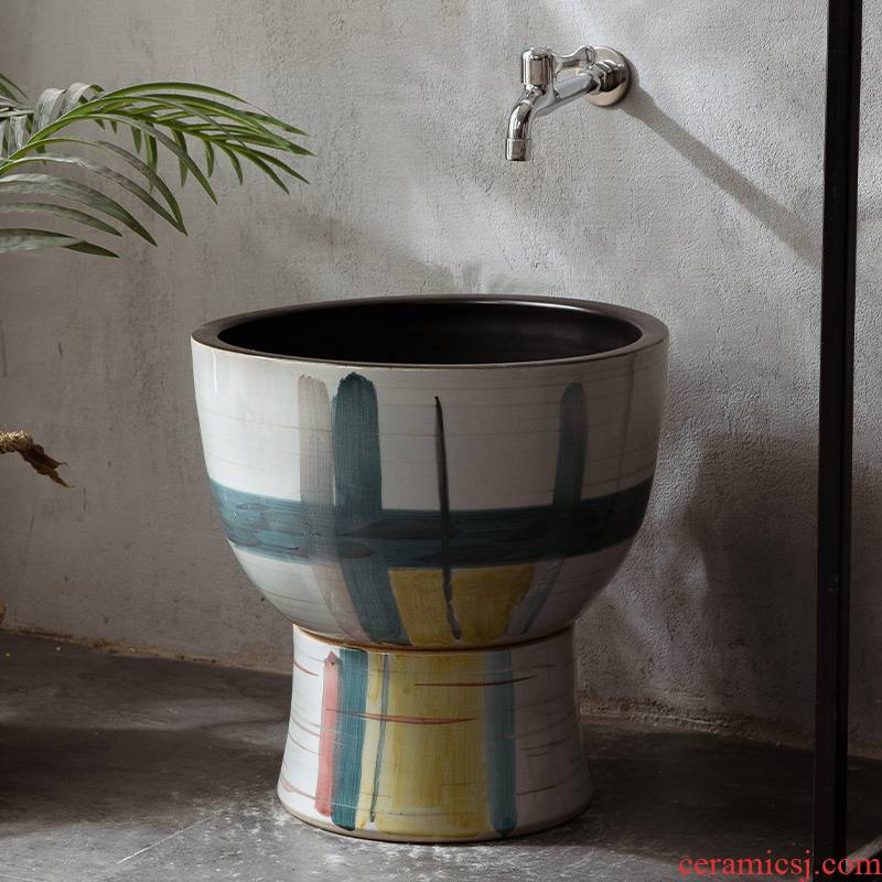The Mop pool ceramic basin of is suing the pool Mop pool Mop pool courtyard balcony household toilet basin to the Mop