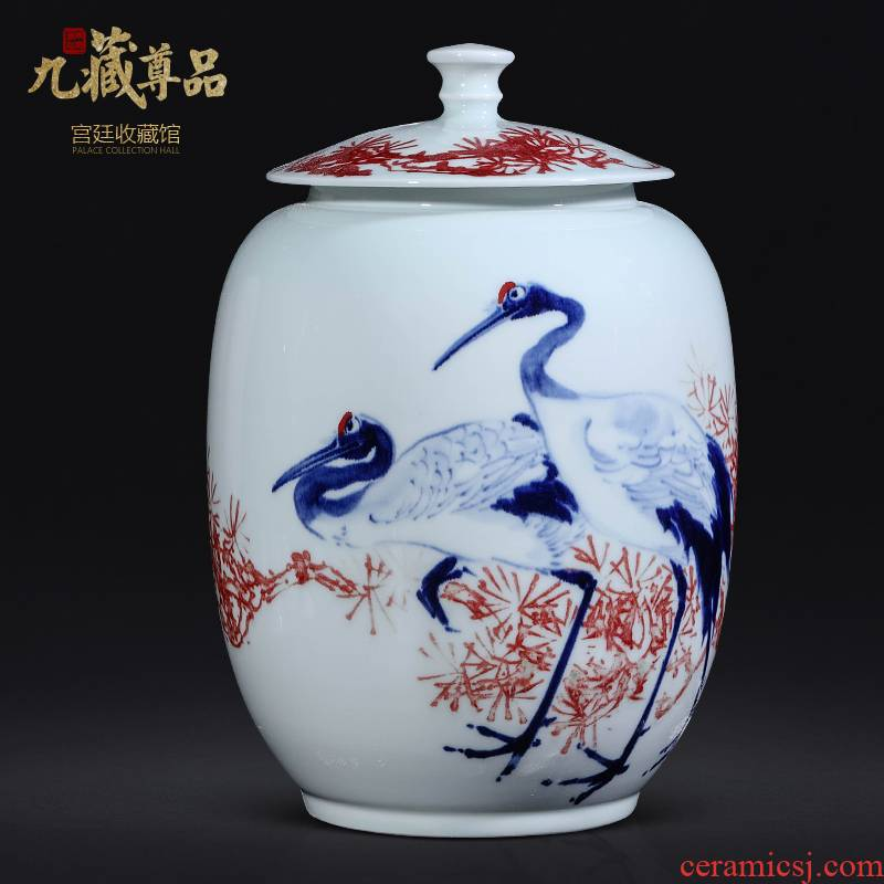 Dong - Ming li hand - made porcelain of jingdezhen ceramics youligong furnishing articles cover pot sitting room porch study Chinese style decoration