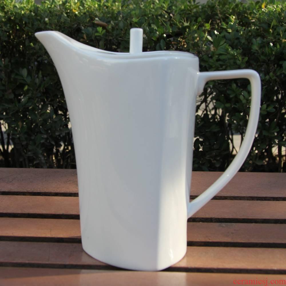 Qiao mu tangshan pure white ipads China Shanghai red teapot cold water pot pot of coffee pot teapot mocha pot of coffee