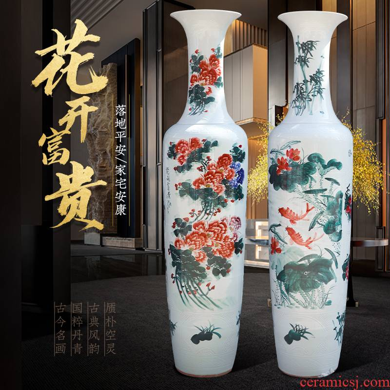 Jingdezhen ceramic hand - made the French hotel opening place large vases, Chinese style living room office decorations