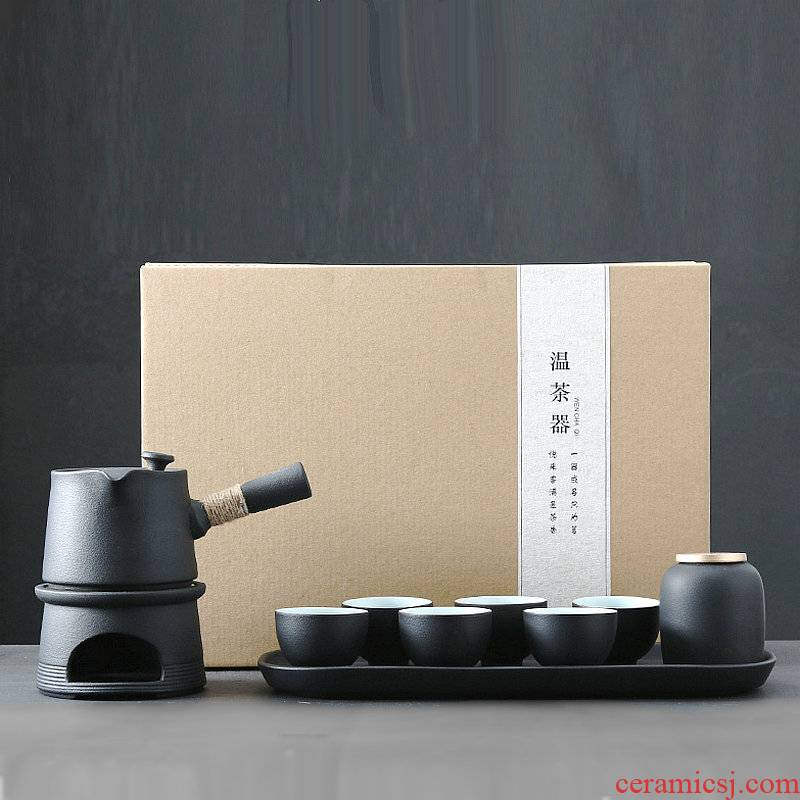 Japanese kung fu tea set of black suit girder pot of restoring ancient ways household teapot zen side put the pot of tea cup of home stay facility
