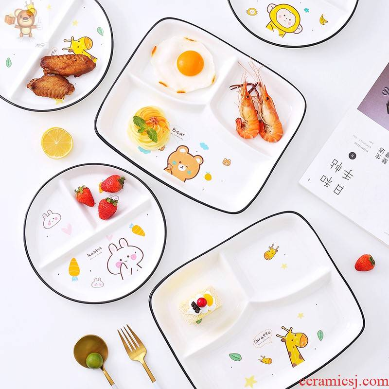 Japanese ceramics household space frame plate tableware suit one creative students eat breakfast platter food dishes