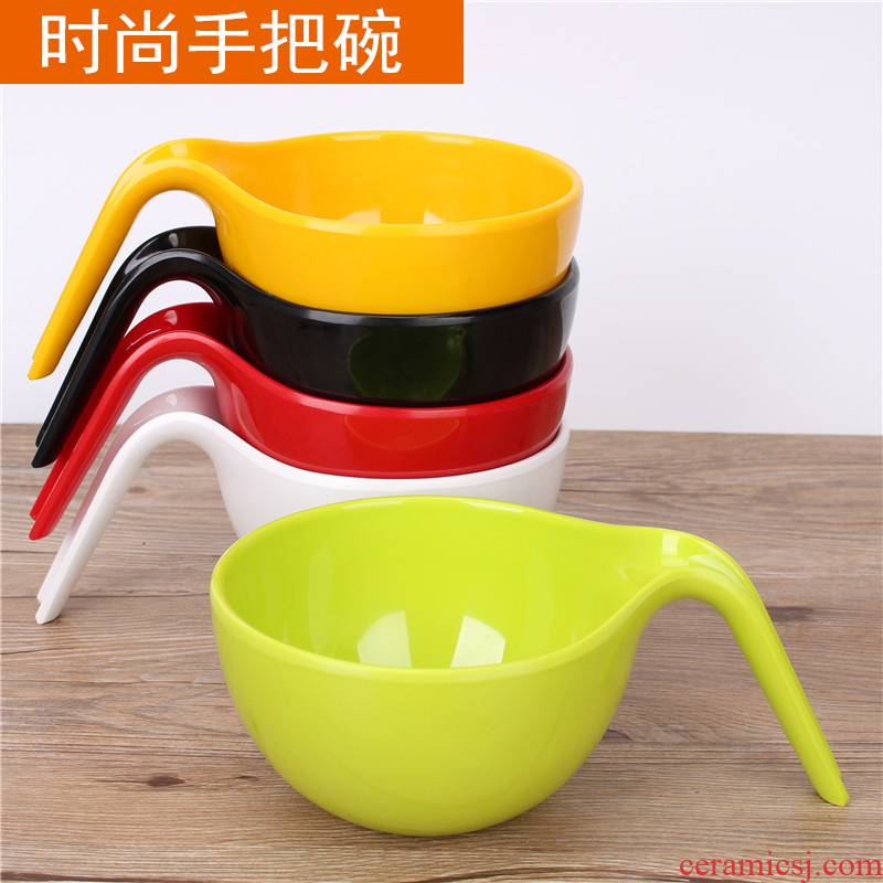 High - grade move mercifully rainbow such use appliance with a pull color plastic imitation porcelain bowl rainbow such as bowl soup bowl with a bowl of melamine tableware