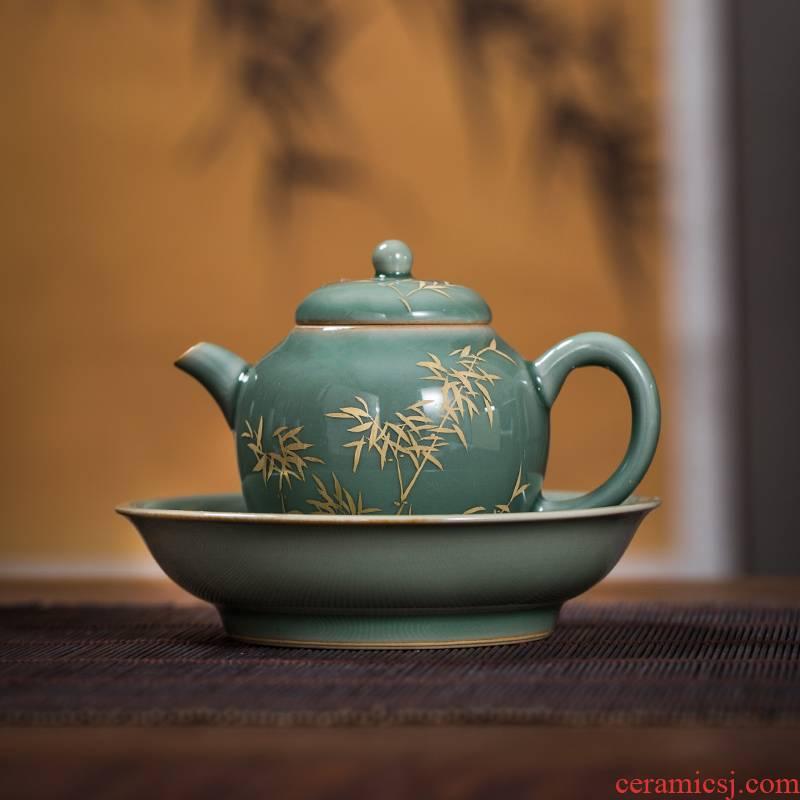 The Owl up jingdezhen tea name plum green mercifully girls, checking ceramic teapot hand - made dry mercifully kung fu tea pot