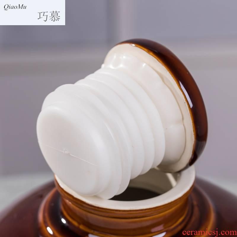 How 5/10 jin qiao mu jingdezhen ceramic wine jar with homemade wine liquor sealing hidden wine bottle of wine