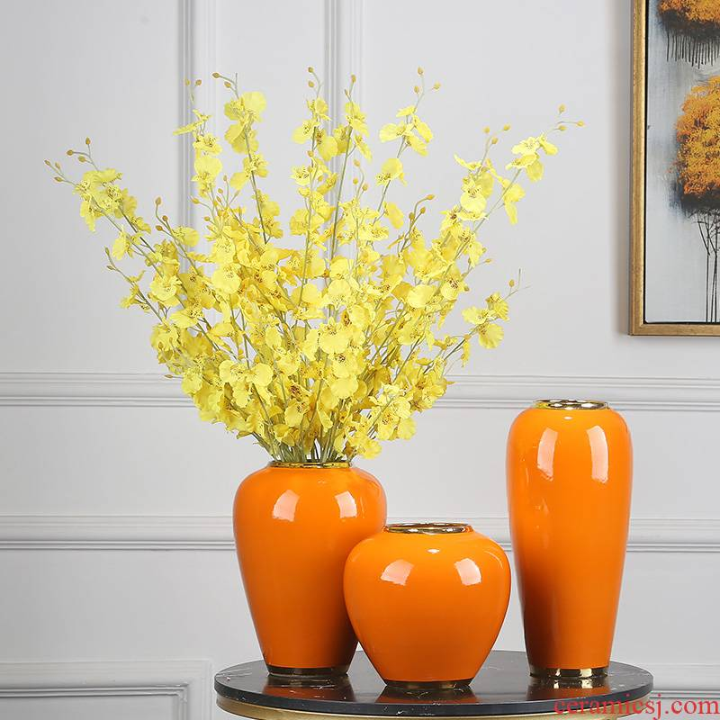 Jingdezhen ceramics vase now sitting room porch TV ark of new Chinese style table fake flower adornment suit furnishing articles
