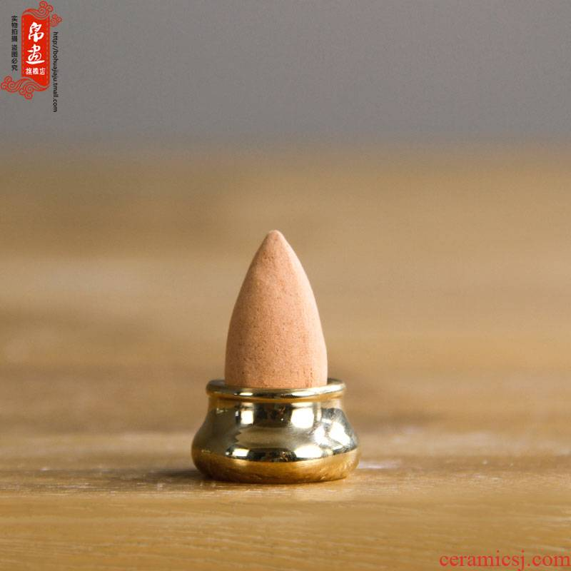 Pure brass bottle gourd incense inserted a device mini fragrant incense coil 's creative joss stick inserted into the base metal substance