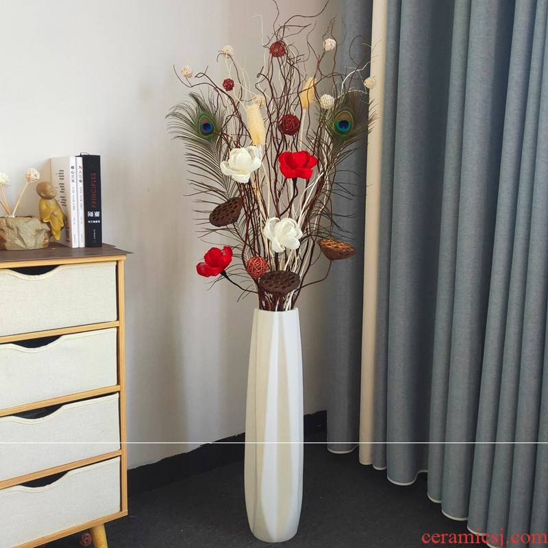 Ceramic dry flower branches furnishing articles dry ground flower arranging Ye Maihua perch at the sitting room porch household vases, decorative flowers