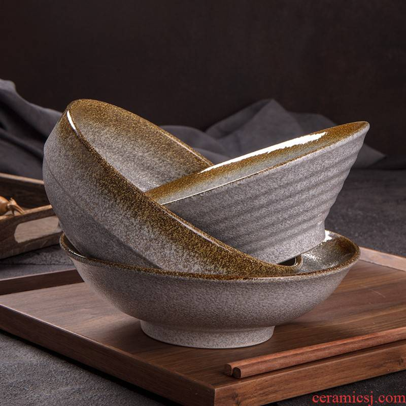 Ceramic 8 inch pull rainbow such to use such special coarse pottery domestic large rainbow such as bowl soup bowl ltd. hat to horn bowl of tableware