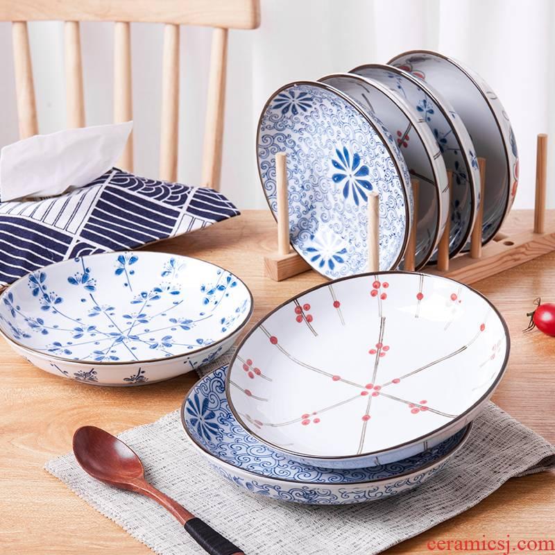 Dish Dish plate household Japanese ceramic fruit creative steak dinner plate dinner plate and lovely breakfast dishes