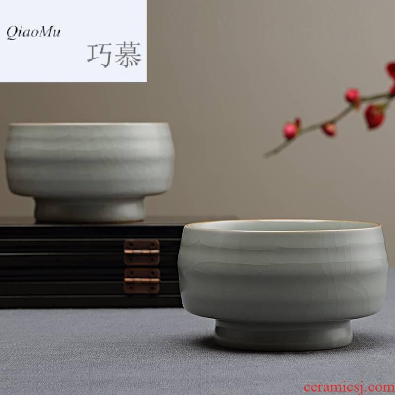Qiao mu Taiwan FengZi manual your up sample tea cup individual household ceramics cup master cup kung fu tea cups