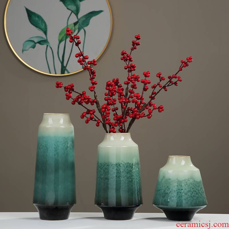New Chinese style with modern jingdezhen ceramic vase furnishing articles sitting room porch TV ark, the home dry flower arranging flowers adornment