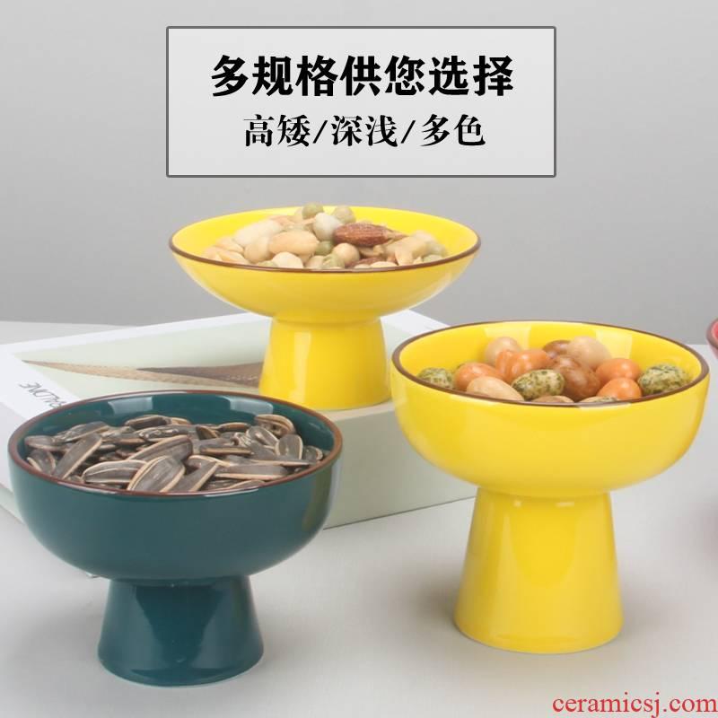 Characteristics of Japanese ceramics high bowl tea yogurt dessert snacks of snack all the fruit nut snacks compote