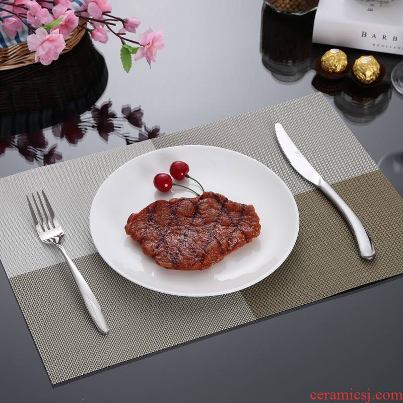 View the best hotel restaurant steak white ceramic plate round dish bottom plate of pasta halide ipads plate