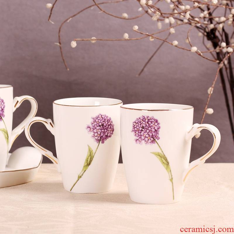 Qiao mu dandelion drinking cup for cup cup one ceramic keller cup oats cup Europe type tide for breakfast
