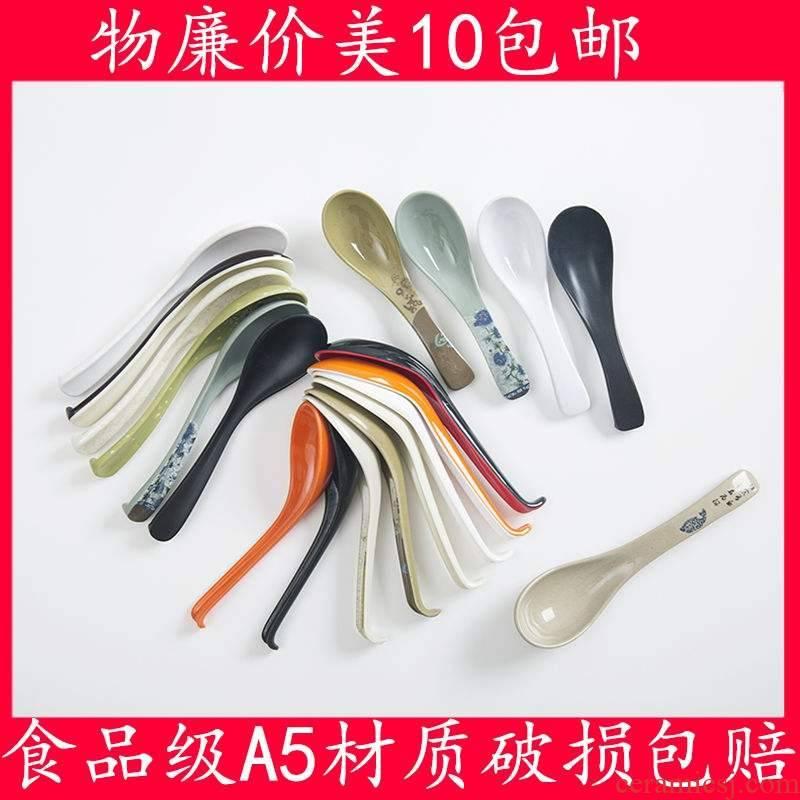 Mail are porcelain melamine spoon hook children porridge spoon run wonton soup spoon, long handle plastic ltd. lh - lh-zd hotpot spoons