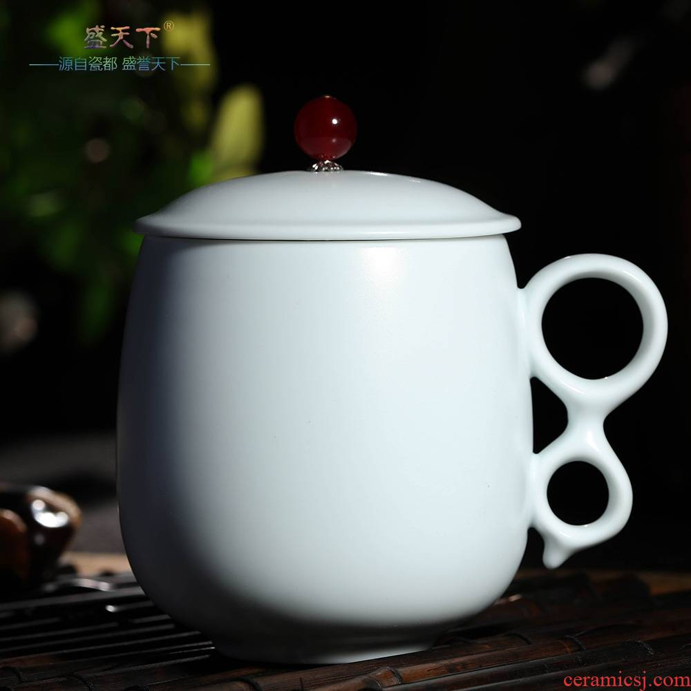 Five ancient jun qiao mu ceramic cups individual cup sample tea cup ice crack type up up your up up filter cup