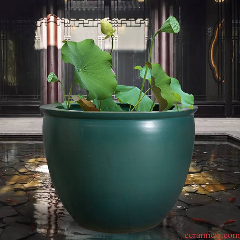 Furnishing articles archaize lotus cylinder tank koi old courtyard tank water lily cylinder outside the hotel in jingdezhen ceramics