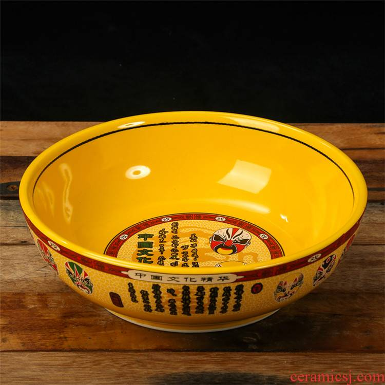 And ceramic face basin of Chinese style restoring ancient ways of sour pickled cabbage fish bowl of boiled fish the big bowl of soup bowl large stew refers to basin rainbow such use