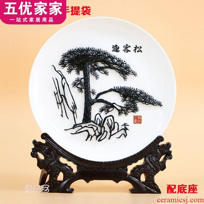 Wuhu iron picture guest - the greeting pine porcelain gifts specialty in anhui Wuhu specialty handicraft sent to customers