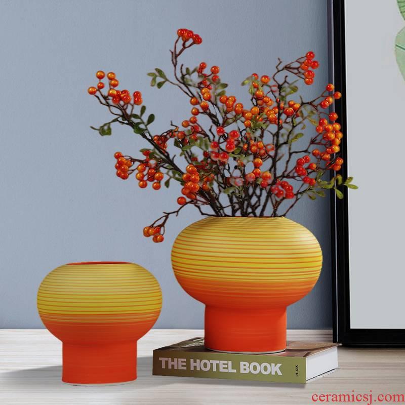 New Chinese style light ceramic vase key-2 luxury furnishing articles table dry flower tea table flower art is sitting room adornment desktop simulation flower decoration