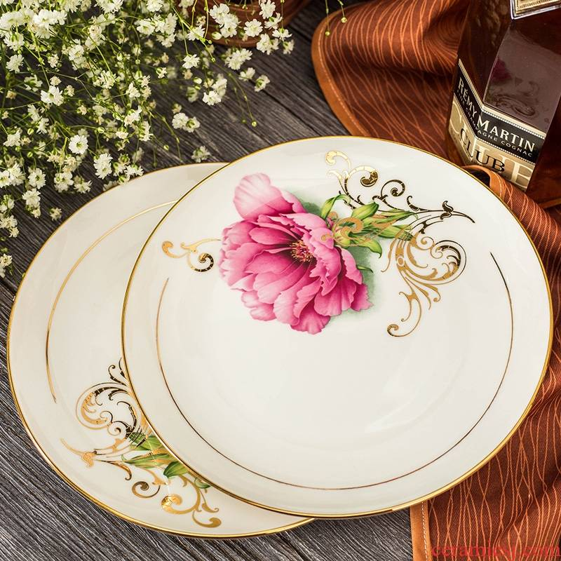 Qiao mu jingdezhen paint by hand ipads porcelain tableware dishes home outfit bowl dish bowl chopsticks European ceramics