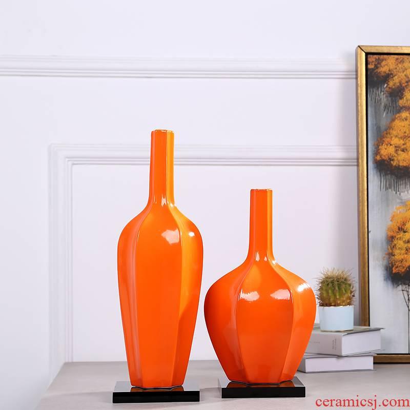 Modern European ceramic vases, the sitting room porch flower arranging flower implement Nordic light key-2 luxury home furnishing articles table