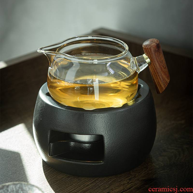 Fair high heat - resistant glass tea cup points is the based heating temperature teapot tea tea filter sea side mixes the cup bottom