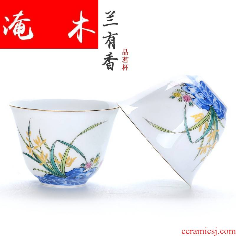 Flooded demand from the perfume sample tea cup ceramic cups kung fu tea set large individual cup of white porcelain master cup tea cups