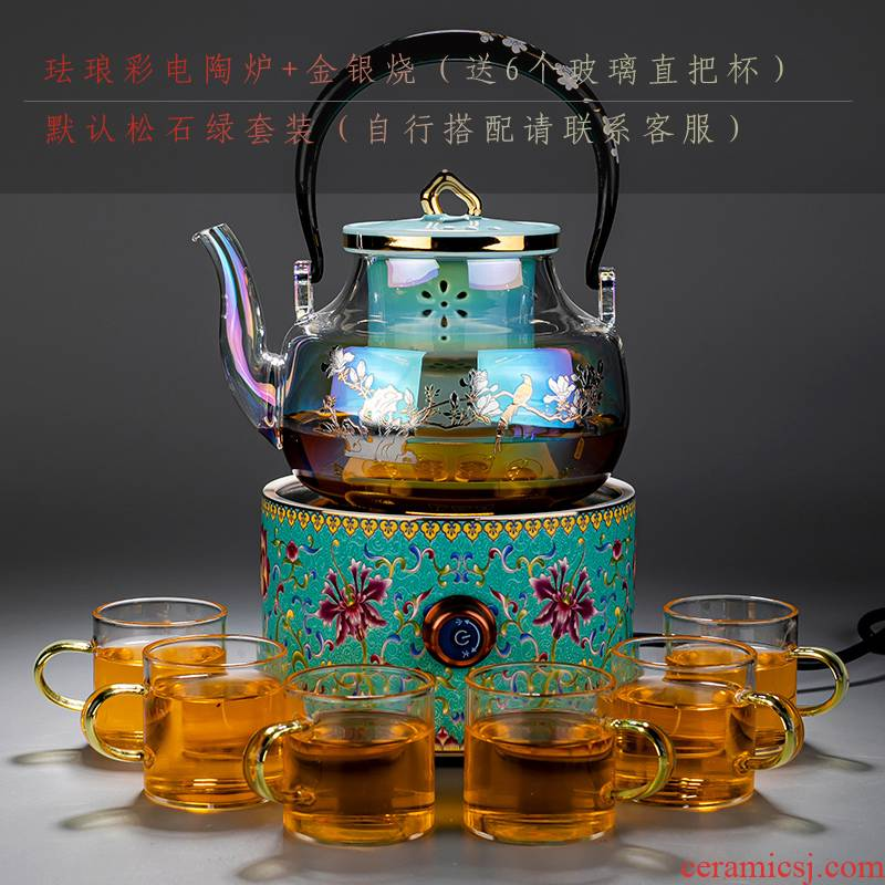 Fully automatic the teapot suit household boiled tea, the electric TaoLu more large capacity high temperature resistant filter glass kettle