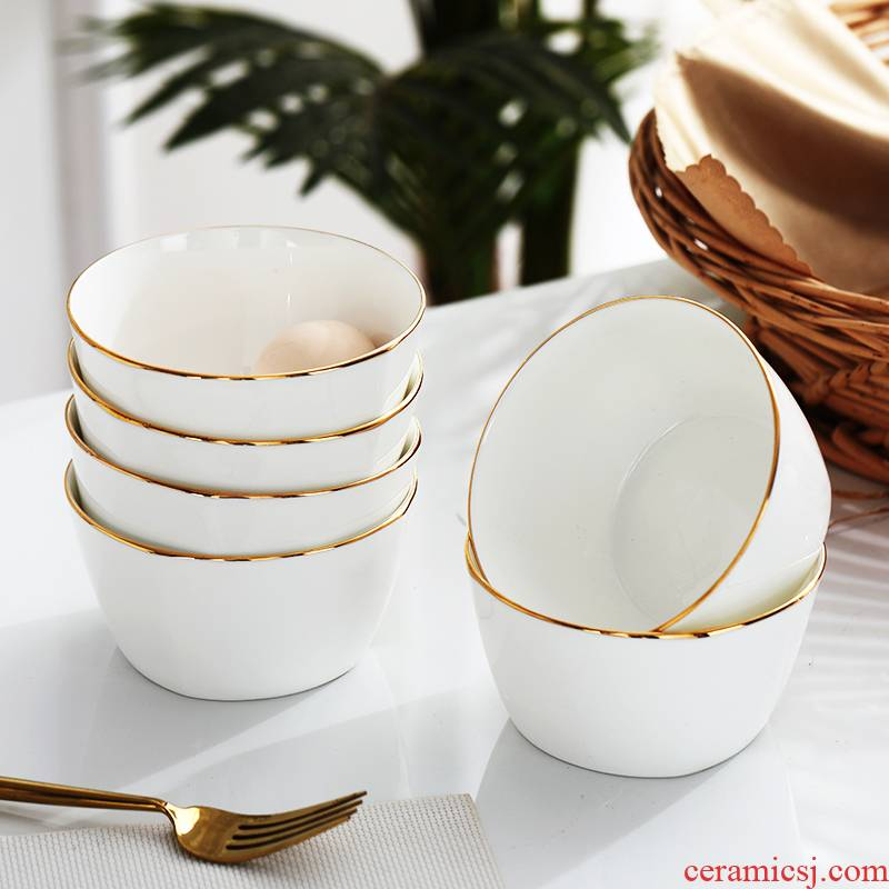Eat rice bowl of household ceramic bowl creative Korean party bowl of up phnom penh porringer ipads porcelain rice bowls of jingdezhen ceramic bowl
