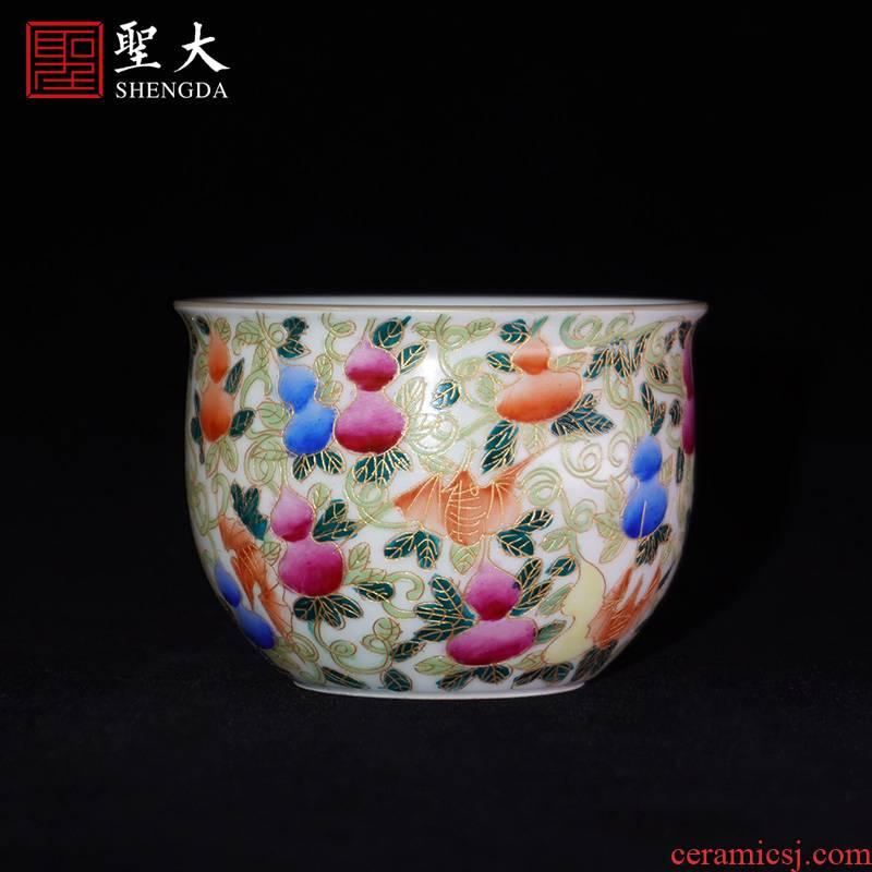 Santa color master cup manual hand - made jingdezhen ceramic wire inlay enamel sample tea cup tea cup kung fu tea cups