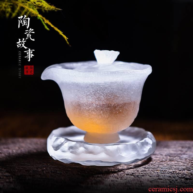 Ceramic story lustre tureen single tea tea tea set of high - end, only three glass frozen tureen