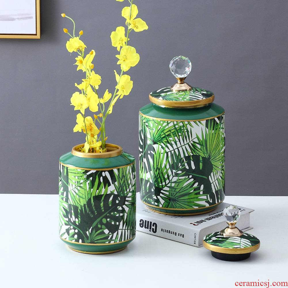 Nordic light key-2 luxury furnishing articles storage tank decorative ceramic POTS American Jane contracted sitting room ark, household act the role ofing is tasted