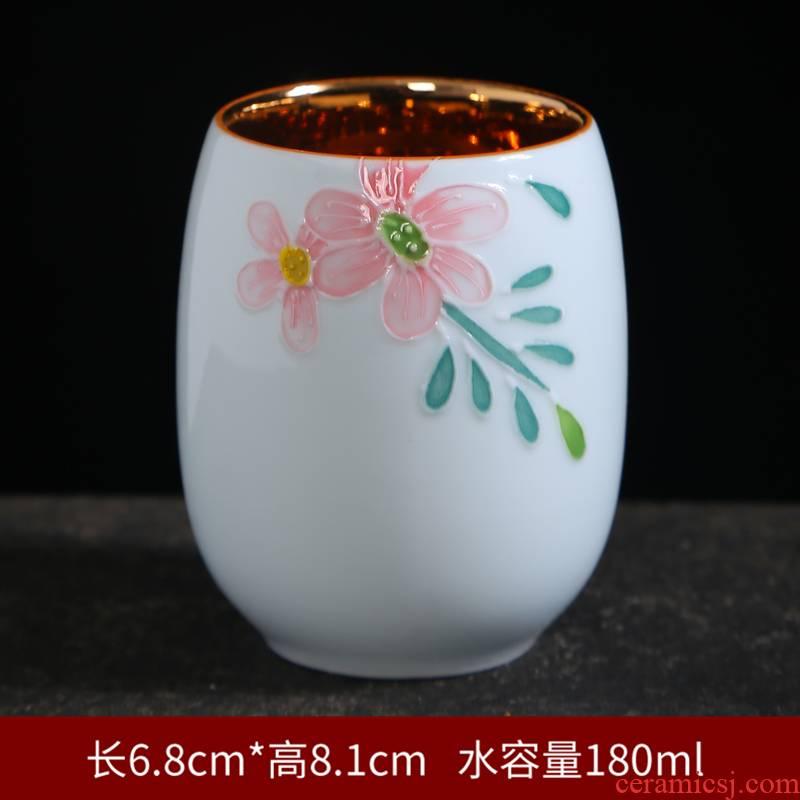 Gold hand - made kung fu tea tea set of blue and white porcelain ceramic tea for a single master cup bowl sample tea cup
