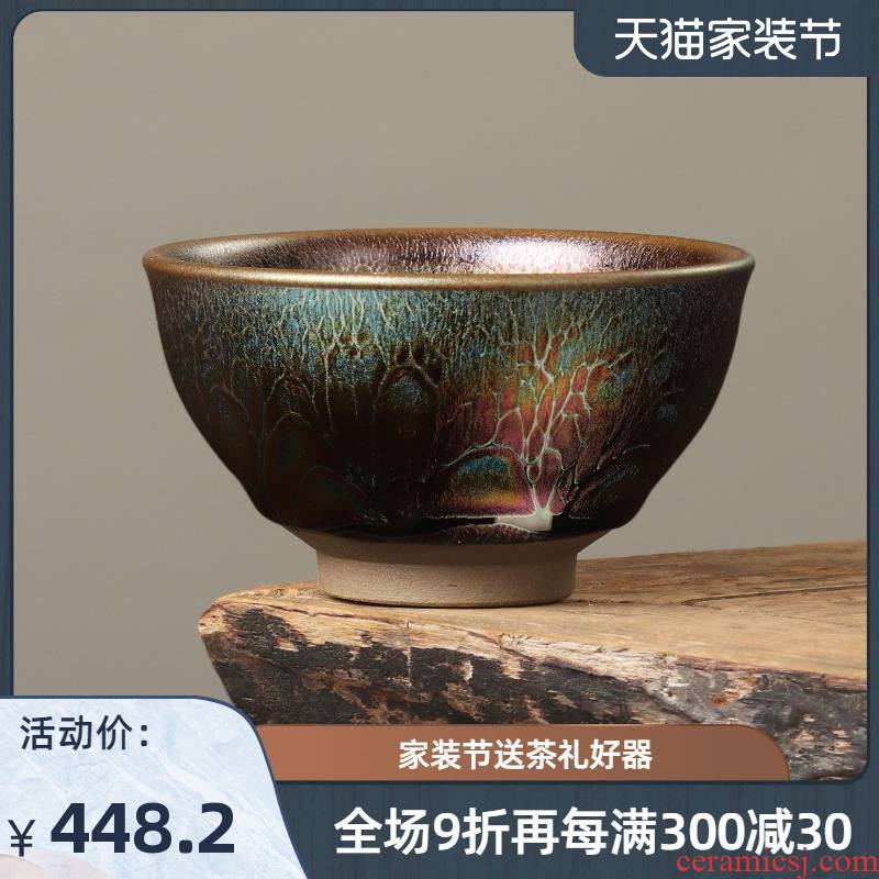 Artisan fairy famous building 7 see colour lamp cup lamp that master cup single cup tea ceramic household pure manual, kung fu tea cups