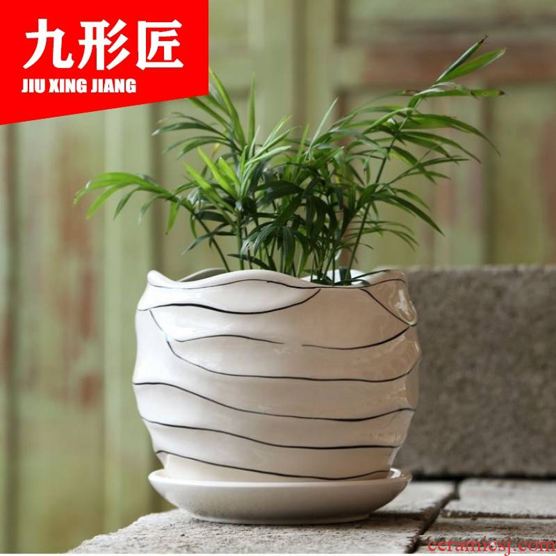 Ceramic POTS with pallet size extra large clearance sale home more money plant bracketplant plastic flower pot in meat