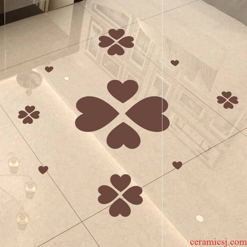 Ground glass block defect label stickers floor waterproof adhesive surface of ceramic tile love stickers wardrobe decorative wall stickers