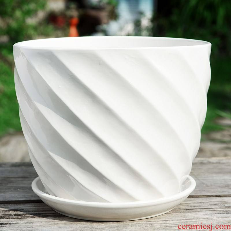Domestic high - grade money plant green plant circular multi - function faceplate ceramic landing clearance king of jingdezhen