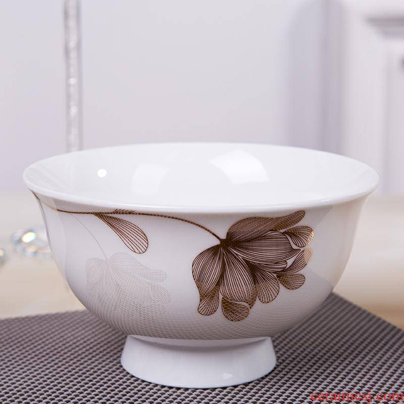 10 household jobs ceramic rice bowl thicken the hot 5 inches tall foot ipads bowls porringer dishes suit