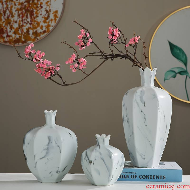 Creative new Chinese style ceramic vases, flower arranging dried flowers modern furnishing articles, the sitting room porch table between example of soft decoration