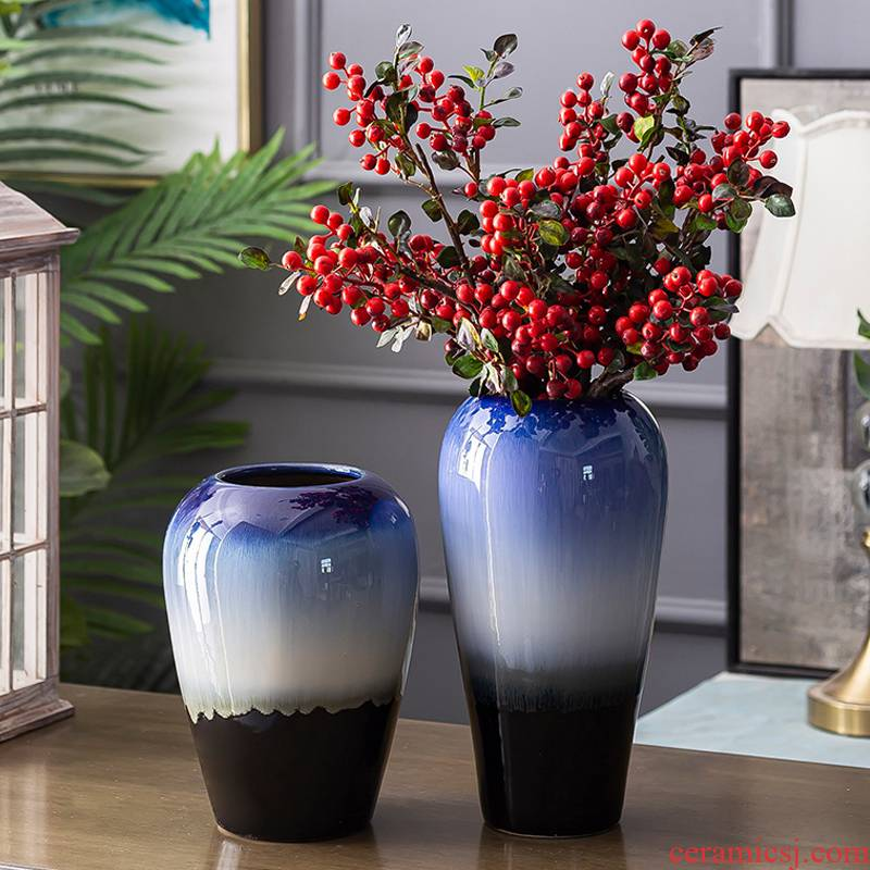 Variable contracted and I pottery ceramic vase furnishing articles creative home sitting room flower arranging dried flower decoration decoration suits for
