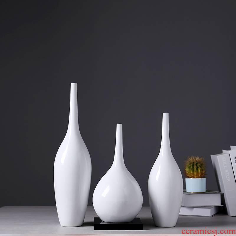 European ceramic vase modern creative home sitting room porch decoration Nordic light TV ark key-2 luxury furnishing articles ornament