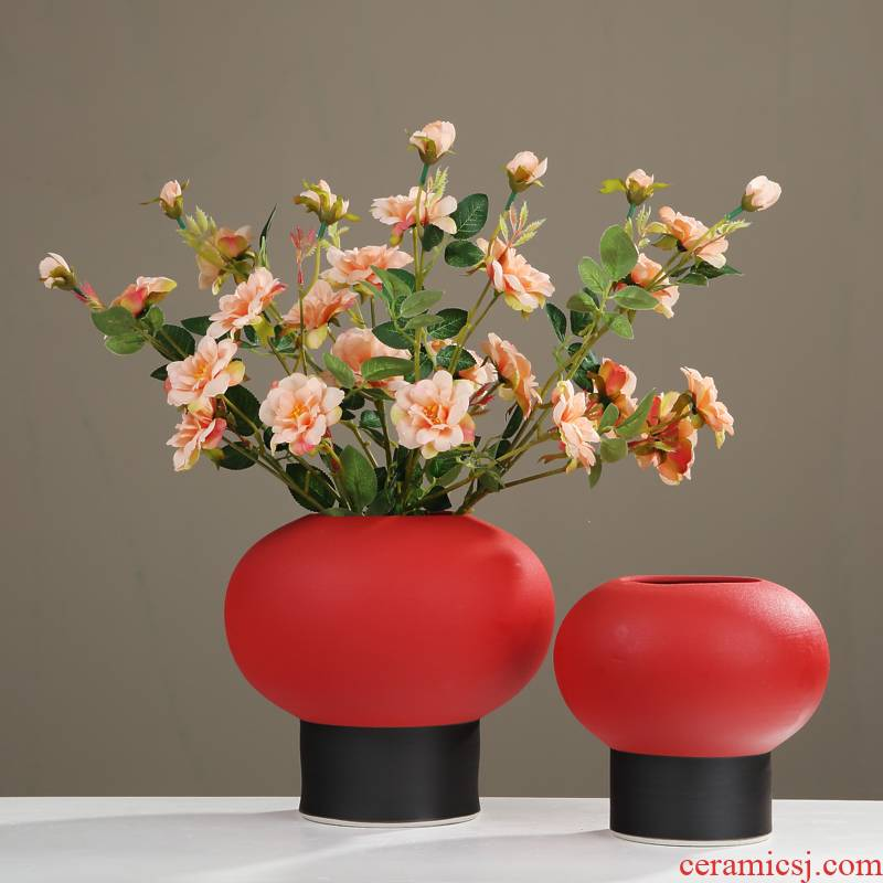New Chinese style in modern flower art ceramic vase furnishing articles sitting room porch light table between TV ark, example key-2 luxury decoration