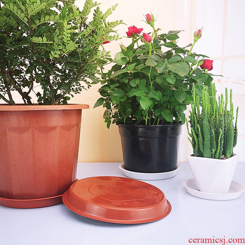 Flower pot tray was circular plastic faceplate thickening undeypan water pans flowerpot bottom more than other meat pot base